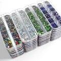 Новый стиль микс Размеры SS6-SS30 1000 шт Стразы с прямой основой Стразы 12 Сетка упаковочная коробка с украшением в виде кристаллов и точильный ка...