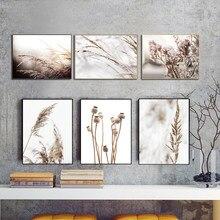 Cuadros рисовый Одуванчик, домашнее зеленое растение, Картина на холсте, скандинавские постеры и принты, печатные настенные картины для гостин...