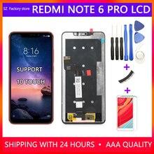 Wymiana ekranu 6.26 cala dla Xiaomi Redmi Note 6 Pro wyświetlacz LCD i ekran dotykowy Digitizer montaż ramy zestaw Redmi Note6 Pro