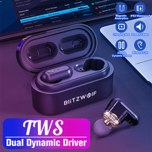 [Dual Dynamic Driver] Blitzwolf BW-FYE7 TWS bluetooth 5.0 Earphone In-Ear Bass Stereo Earphone Dua Arah Earphone Nirkabel Benar Musik Terbaik Earbuds Handsfree(China)
