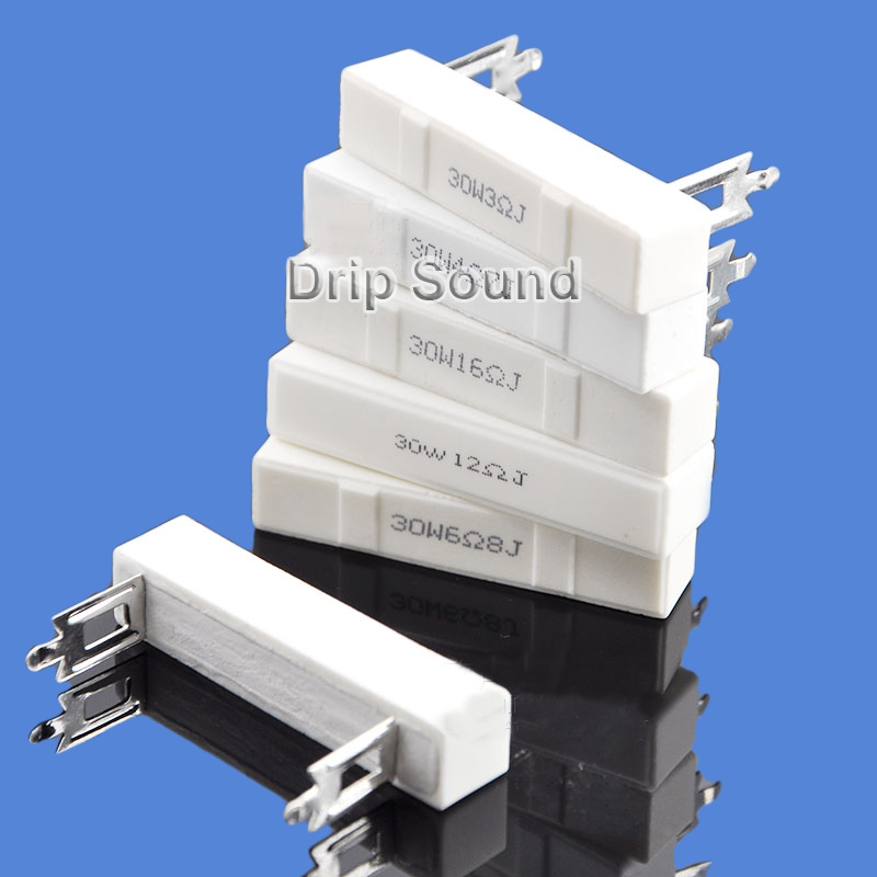 2pcs 10Ohm-30Ohm 30W Speaker Frequency Divider Audio Stereo Crossover Ceramic Resistance Cement Resistor