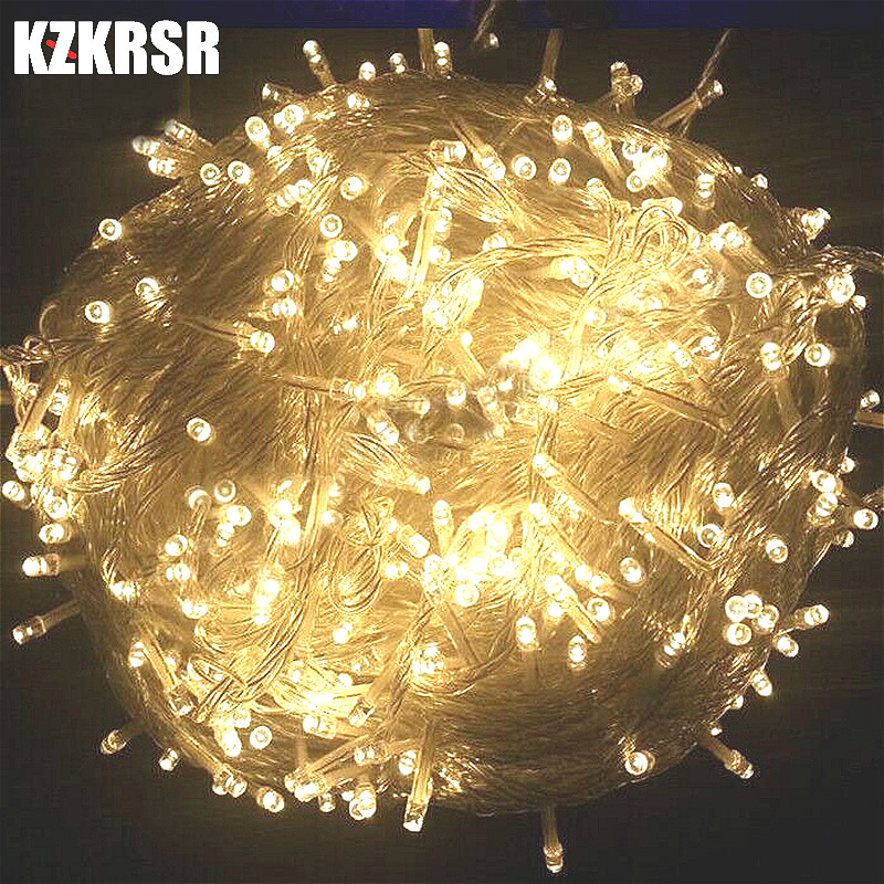 Outdoor Waterproof Led String Light 10m 20m 30m 50m 100m Fairy Garland For Christmas Tree Wedding Party Decoration AC110V /220V