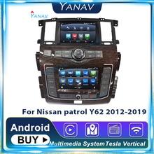 Новейшая Система Android, автомобильное радио с двойным экраном, аудио для Nissan патруль Y62 2012-2019, автомобильный GPS-плеер, модифицированный до 2020, н...