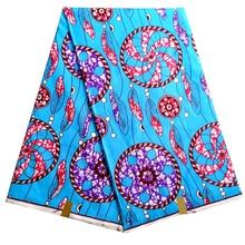 Анкара полиэстер печати небесно-голубой цвет вощеная ткань Африканская нигерийская голландская восковая ткань высокого качества