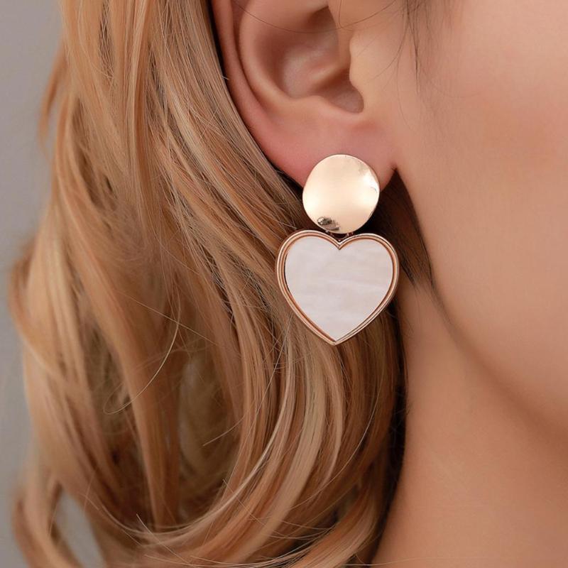 Earrings For Women Gold Silver Fashion Jewelry Pendant Girls Trend Gift Hanging Dangler Eardrop Geometric Women Ear Drop Jewelry