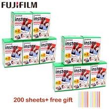 10 200 ورقة فوجي فوجي فيلم instax mini 9 أفلام حافة بيضاء 3 بوصة فيلم واسع للكاميرا الفورية mini 8 9 7s 25 50s 90 ورق طباعة الصور