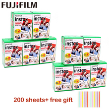 10 200 sayfa Fuji Fujifilm instax mini 9 filmler beyaz kenar 3 inç geniş film anında kamera mini 8 9 7s 25 50s 90 fotoğraf kağıdı