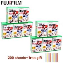 Papel para fuji fujifilm instax mini 9 folhas, filme branco 3 200 de largura, para câmera mini instantânea de 10 Polegada papel fotográfico 8 9 7s 25 50s 90