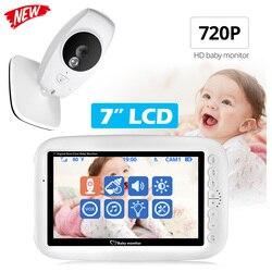 Novo 7.0 polegada sem fio cor 720 p hd bebê monitor de áudio e vídeo câmera do bebê walkie talkie monitor câmera de segurança ir visão noturna