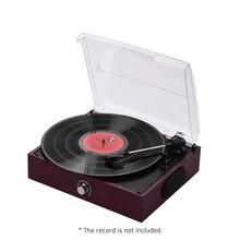 Retro USB & BT-en tocadiscos velocidad 3. Estilo Vintage de tocadiscos de vinilo con dos dinámica altavoces