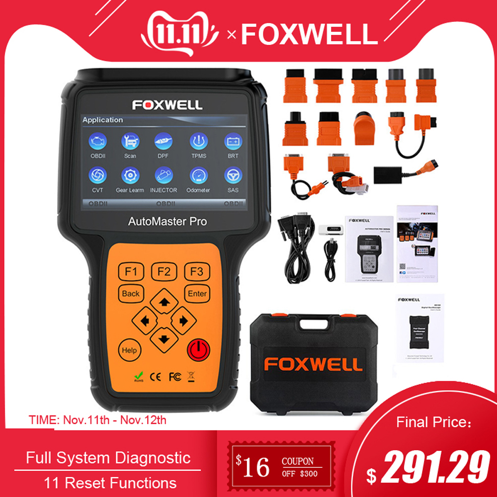 FOXWELL NT644 PRO Full System OBD2 Scanner ABS SRS AT DPF EPB Oil Reset Diagnostic Tool Professional ODB2 OBD Automotive Scanner