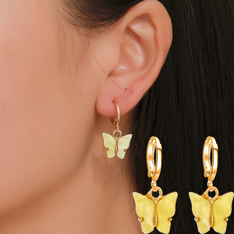 Fashion Butterfly Stud Earrings Women Scrub Butterfly Earrings 2019 Simple Animal Earrings Women Jewelry Accessories M36