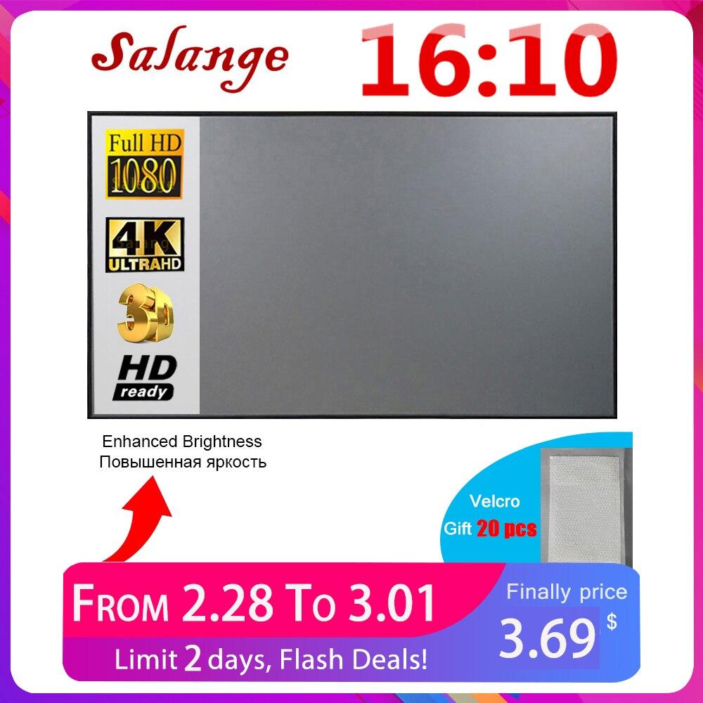 Salange экран для проектора 16:10 ,100 120 дюймов светоотражающая ткань экран для проэктора YG300 XGIMI DLP полотно для проектора