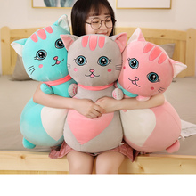 New Lovely 50/70/90cm New Good Quality Cute Cat Plush Toys Soft Stuffed Animals doll For Children Kawaii Birthday Christmas Gift