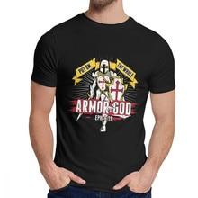 Leisure Man Tee Shirt Armor Of God Ephesians Knight Templar Quality Cotton Novelty Round Collar Harajuku Streetwear Tee Shirt