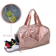 Torby na siłownię dla kobiet z przegrodą na buty sportowa torba na siłownię z mokrą kieszenią nowe kobiece torby płócienne na zewnątrz torby podróżne