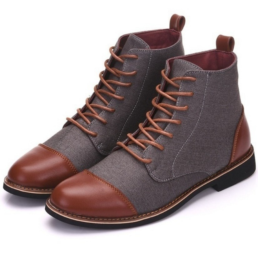 Winter Men Snow Boots Warm Plush Plus Size  Men Boots Pointed Toe Winter Casual Leather Shoes Men Chelsea Boots 2020 Work Boots
