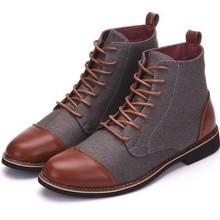 Winter Men Snow Boots Warm Plush Plus Size Men Boots Pointed Toe Winter Casual Leather Shoe