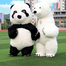 Надувная панда маскарадный костюм белый медведь для рекламы