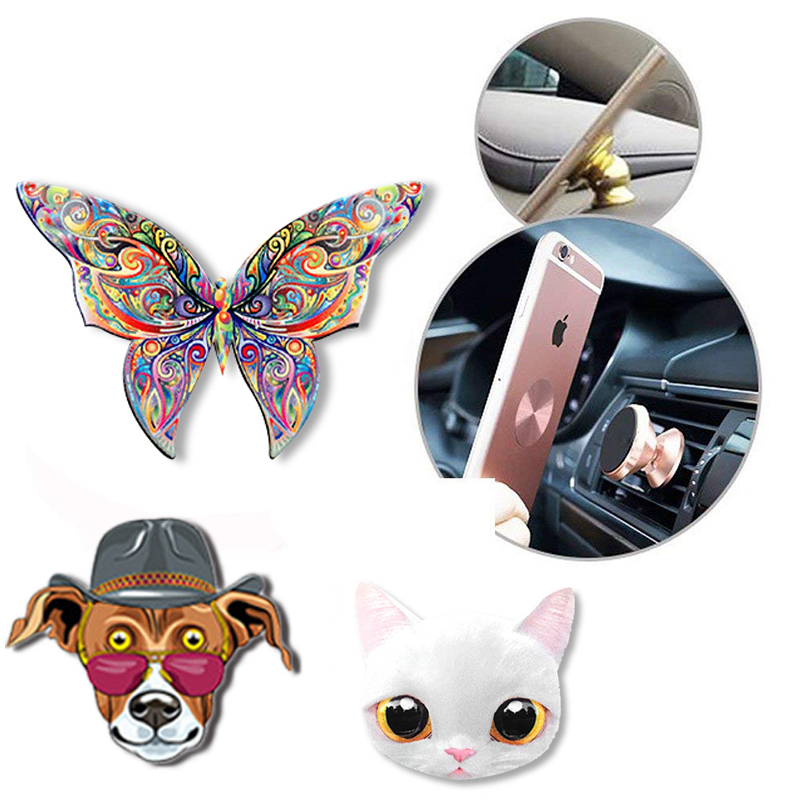 Univerola Universal Metal Plate Disk Iron Sheet For Magnetic Car Phone Holder For Xiaomi Huawei Sticky Magnet Phone Holder