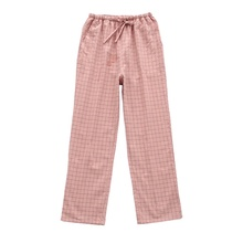 Pajama Pants Trousers Plaid Cotton Women's Autumn Pocket Washed Can-Be-Worn Outside Korean-Style