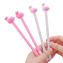 Cute cartoon flamingo soft plastic gel pen Student office stationery