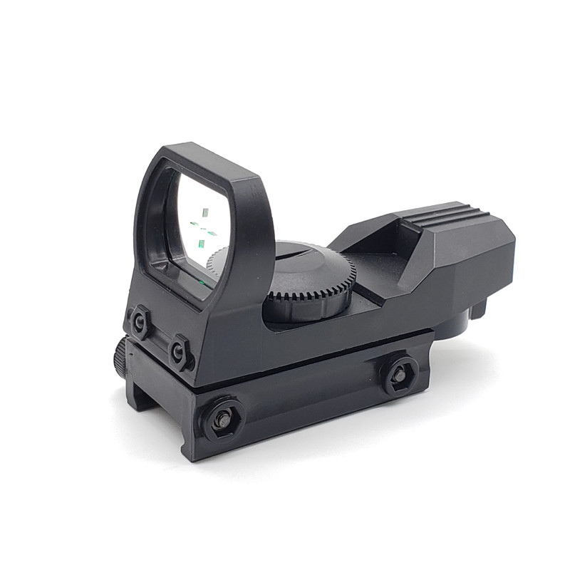 20mm Rail Riflescope Hunting Optics Holographic Green Dot Sight Reflex 4 Reticle Tactical Scope Collimator Sight Plastic Toy