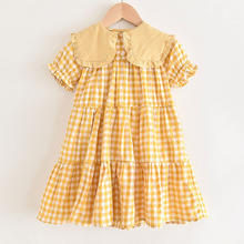 Girls Plaid Dress 2020 Summer New Children Causal Elegant Dress Princess Clothes Sleeveless Children's Clothing Vestidos 3 8Y цена 2017
