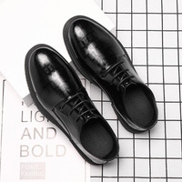 2021 Spring Autumn Man Shoes Lighted Waterproof Hard-Wearing Business Formal Work Simple All-match Fashion Leather Casual Shoes 1