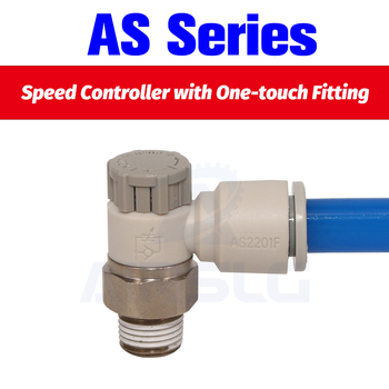 Speed Controller with One-touch Fitting AS1201F-M5-04A AS1201F-M5-06A AS2201F-01-04AS AS2201F-01-06SA AS2201F-01-08SA 01-10SA brand new japan smc genuine speed controller as1201 m5 f04
