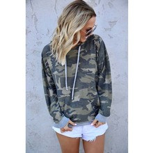 Autumn Camouflage Patchwork Hoodies Women Sweatshirt  Harajuku O Neck Long Sleeve Pullover Female Tracksuit Tops