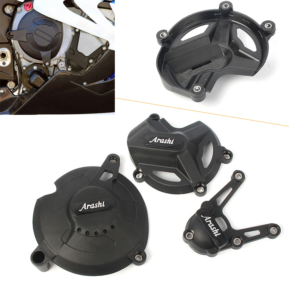 Motorcycle Engine Stator Protector Crankcase Crank Case Cover For <font><b>BMW</b></font> S1000RR <font><b>S</b></font> <font><b>1000</b></font> <font><b>RR</b></font> 2017 2018 Left Motorbike <font><b>Accessories</b></font> image