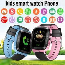 GPS tracker Waterproof Anti-lost Safe Flashlight SOS Call Kids Smart Location clock Children