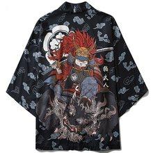 Yukata-cárdigan tipo Kimono para mujer, blusa harajuku de estilo kawaii, ropa informal japonesa TA487, 2019