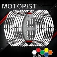 Motorcycle Stickers inner wheel reflective decoration rim stripes decals For HONDA CBR cbr CB R a kit of 10 stripes sticker
