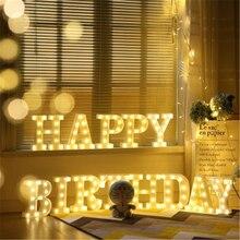 Alphabet LED Letter Light Romantic Wedding Standing Lamp Lights Up White Plastic Valentine Love Girlfriend Gifts