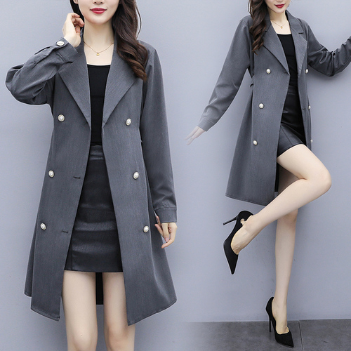 Large Size New Arrival Long Duster Women Elegant Women Fashion Clothes Women Solid   Trench   Coat With Hood Casaco Feminino