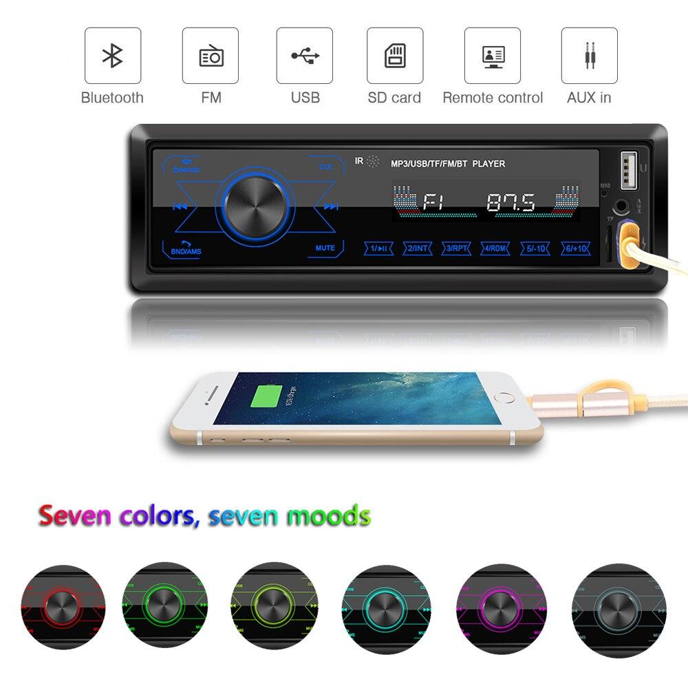 Auto Radio Stereo MP3 Player Digital Bluetooth 60Wx4 FM Audio Musik USB / SD mit In Dash AUX Eingang-in Auto-Multimedia-Player aus Kraftfahrzeuge und Motorräder bei title=