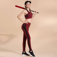 2019 New Women Gym Set Sexy 2 Piece Fitness Clothes For Women Workout Leggings Set Sportwear Gym Active Wear Sports Suit(China)