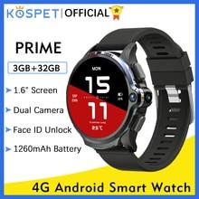 "KOSPET PRIME  ساعة ذكية Smart Watch Android 3GB 32GB ساعه ذكيه ساعات ذكية Smartwatch 2020 ساعة هواوي For شاومي xiaomi 1.6"" 1260mAh مللي أمبير GPS معرف الوجه WIFI واي فاي Bluetooth 4G smart watches Men ساعة ذكية اندرويد"