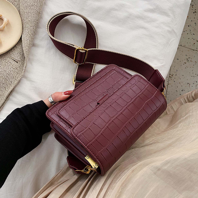 Stone Pattern Small Crossbody Bags For Women 2019 Solid Color Simple Shoulder Messenger Bag Lady Travel Handbags
