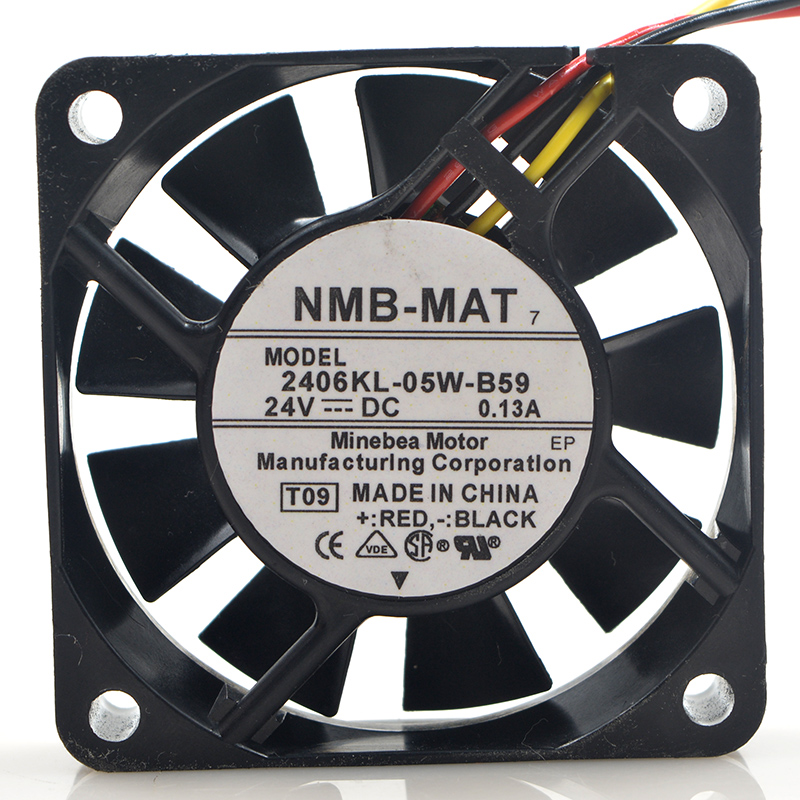 Original For NMB 2406KL-05W-B59 dc 24V 0.13A 6cm 6015 <font><b>60</b></font>*<font><b>60</b></font>*15 <font><b>MM</b></font> 3 wires converter cooling <font><b>fan</b></font> image