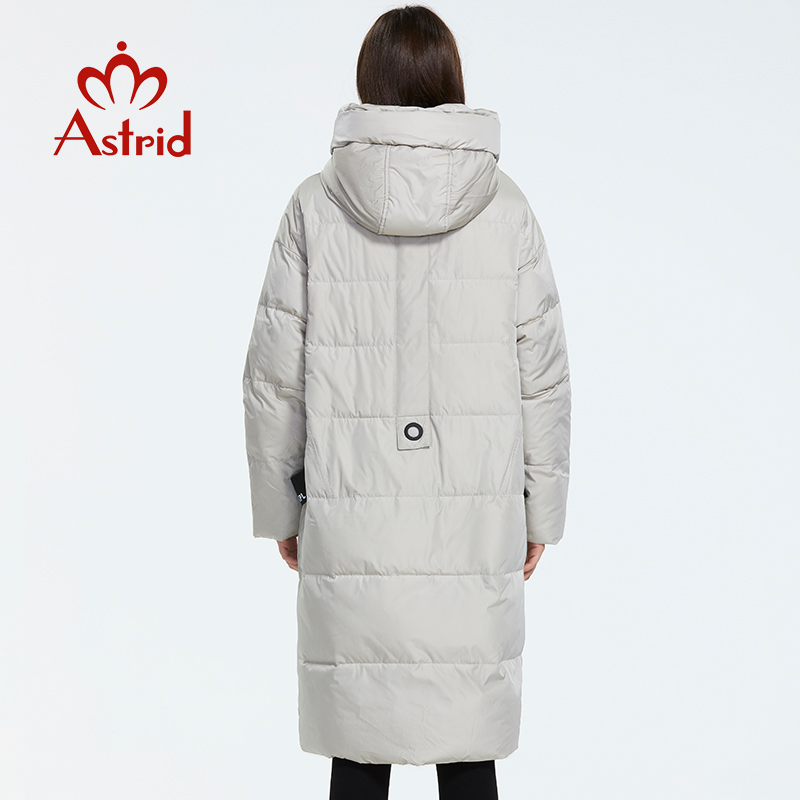 Image 3 - Astrid 2019 Winter new arrival down jacket women loose clothing outerwear quality with a hood fashion style winter coat AR 7038-in Parkas from Women's Clothing