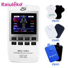 Massager Tens Acupuncture Muscle-Stimulator Electric-Therapy 10-Modes Pain-Relief 18-Pads