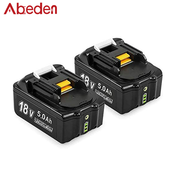 2 Pack 18V 5.0AH BL1850B Battery Replacement For Makita 18V Battery BL1830 BL1850 BL1840 BL1850B-2 BL1845 BL1860B Tool Batteries 3pcs 18v bl1860 li ion 6000mah replacement for makita 18v bl1840 bl1830 bl1850 rechargeable power tool battery with usb adapter
