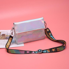 Laser Shoulder Bags For Women Fashion Messenger Bag Color Strap Crossbody Small Square Mobile Phone