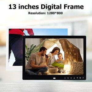Image 3 - 13 inch HD Digital Photo Frame 1280x800 Music Movie Player Remote Control MP3 MP4 Calendar Alarm Clock Electronic Album