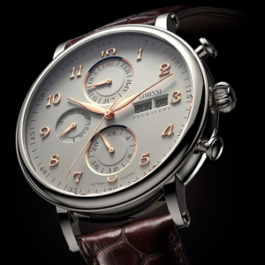 Image 4 - שוויץ LOBINNI גברים שעוני יוקרה מותג לוח שנה התמידית רב פונקציה אוטומטי מכאני ספיר עור שעון L13019 6