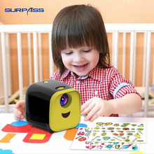 Kids Projector 1000 Lumens Kids Toy Portable Education Projector Mini LED Home Beamer Support 1080P