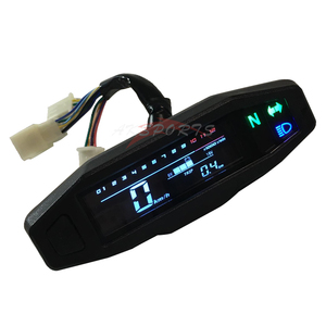 New motorcycle LCD speedometer digital odemeter electric injection and carburetor meter for Russian KR200(China)